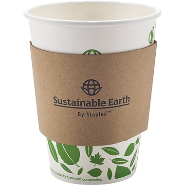 Sustainable Earth by Staples - Manchons isolants, paq./500