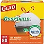 Glad® Odor Shield® Tall Kitchen Drawstring Trash Bags,