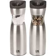 Gravity Salt and Pepper Grinder Set, Stainless