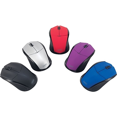 Staples Wireless Optical Mice, Assorted Colors