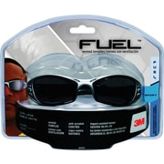 3M Fuel® Sport Safety Eyewear Silver/Black Frame, Gray Mirror Lenses