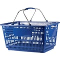 30L Plastic Shopping Basket, Blue, 20 Pk