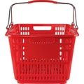 30L Plastic Shopping Basket, Red, 20 Pk