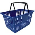 20L Plastic Shopping Basket, Blue, 20 Pk