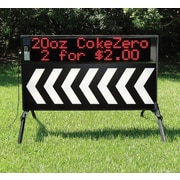 """Outdoor Signs of America Steel Portable LED Sign 40"""" x 72"""", with Arrow Faces"""