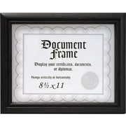 "Malden Home Profiles Wood Document Frame, Black, 8.5"" x 11"""