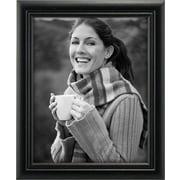 "Malden Home Profiles Classic Ridge Wood Fashion Frame, Black, 8"" x 10"""