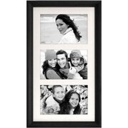"""Malden Home Profiles 3-Opening Wood Collage Picture Frame, Black, 4"""" x 6"""""""