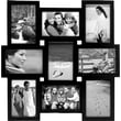"""Malden 9-Opening Wood Puzzle Collage Picture Frame, Black, 4"""" x 6"""""""