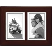 "Malden Classic Linear Split Double Wood Picture Frame, Espresso Walnut, 3.5"" x 5"""