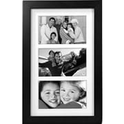 """Malden Classic Linear 3-Opening Wood Collage Picture Frame, Black, 5"""" x 7"""""""