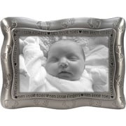 "Malden Ten Little Fingers, Ten Little Toes Metal Picture Frame, Pewter, 4"" x 6"""