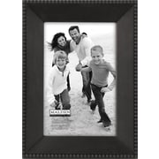 "Malden Beaded Metal Picture Frame, Dark Bronze, 4"" x 6"""