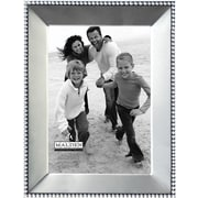 "Malden Beaded Metal Picture Frame, Satin Nickel, 5"" x 7"""