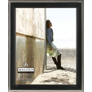 "Malden Classic Two Tone Beaded Metal Picture Frame, Black/Silver, 8"" x 10"""