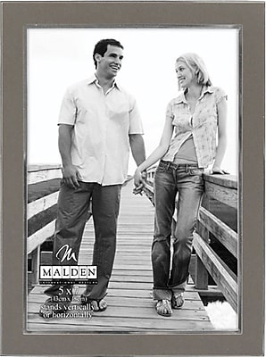 """""Malden Sleek Border Metal Picture Frame, Silver, 5"""""""" x 7"""""""""""""" 1471803"