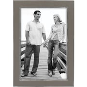 "Malden Sleek Border Two Tone Metal Picture Frame, Pewter, 4"" x 6""/Silver"