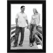"Malden Sleek Border Two Tone Metal Picture Frame, Black/Silver, 5"" x 7"""