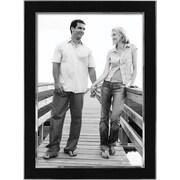 """Malden Sleek Border Two Tone Metal Picture Frame, Black/Silver, 8"""" x 10"""""""