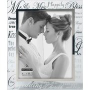 "Malden Mr. and Mrs. Wedding Metallic Glass Picture Frame, 8"" x 10"""