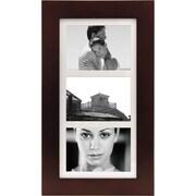 """Malden Manhattan 3-Opening Wood Collage Picture Frame, Dark Walnut, 5"""" x 7"""""""