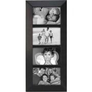 "Malden Berkeley 4-Opening Beveled Edge Wood Collage Picture Frame, Black, 4"" x 6"""