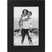 "Malden Classic Linear Wood Picture Frame, Black, 5"" x 7"""