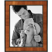 "Malden Burlwood Picture Frame With Black Border, Walnut, 8"" x 10"""