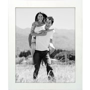 "Malden Classic Linear Wood Picture Frame, White, 8"" x 10"""
