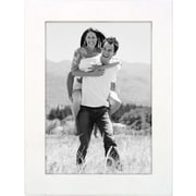 "Malden Classic Linear Wood Picture Frame, White, 5"" x 7"""