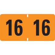 "Smead ETYJ Color-Coded Year Labels 68316, 1.50"" Width x 0.75"" Length, 1/Bx, Rectangle, 500/Roll, Orange"