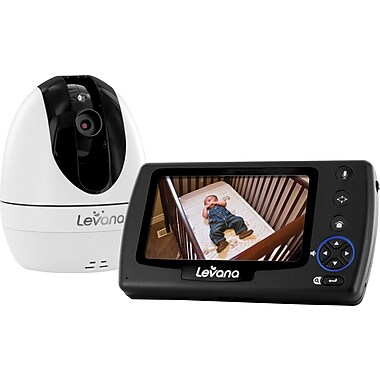levana ovia 4 3 ptz digital baby video monitor with talk to baby intercom an. Black Bedroom Furniture Sets. Home Design Ideas