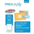 Avery ® PRES-a-ply ® 30605 White Address Label, 8 1/2in.(W) x 11in.(L), 100/Box
