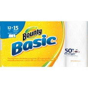 Bounty Basic Select-a-Size Large Paper Towels, 12 Rolls/Case