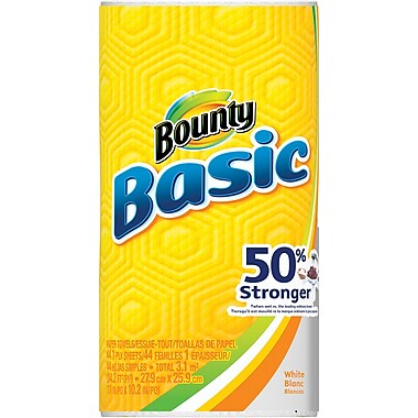 Bounty® Basic  Paper Towel Rolls, 1-Ply, 30 Rolls/Case