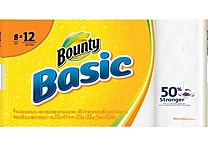 Bounty® Basic Giant Roll Paper Towels, 66 count, 8 Rolls/Case (92966/84697)