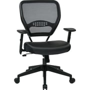 Space Seating 5700E Eco Leather and Plastic Managers Chair with Adjustable Arms and Professional Air Grid Back