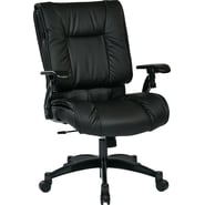 Office Star Proline II® Leather Deluxe Eco Leather Conference Chair, Black