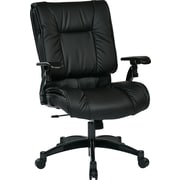 Office Star Space Seating Eco Leather Conference Chair, Adjustable Arms, Black