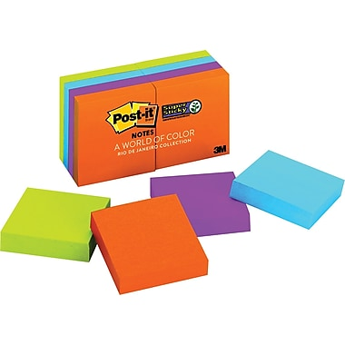 Post-it® Super Sticky Notes Rio De Janiero Collection