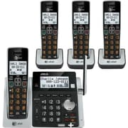 AT&T CL83413 DECT 6.0 Expandable Cordless Phone with Answering System and Dual Caller ID/Call Waiting, Black, 4 Handsets