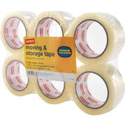 "Staples Moving and Storage Packing Tape, 1.88"" x 54.6 yds, Clear, 6/Pack (ST-A3-6)"