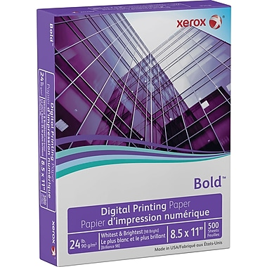 Xerox - Papier Bold pour l'impression numérique laser Select, 24 lb, 8 1/2 po x 11 po, rame/500 feuilles