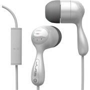 JLab JBuds with Mic Hi-Fi Earbuds, White