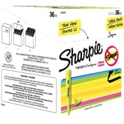 Sharpie® Accent® Tank Highlighters, Chisel Tip, Fluorescent Yellow, 36/Box