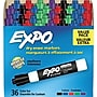 Expo Low Odor Dry-Erase Markers, Chisel Tip, Assorted,