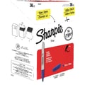 Sharpie® Permanent Markers, Fine Tip, Blue Ink, 36/Box