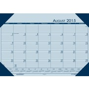House of Doolittle Blue 2016 Academic 12 Month Compact Desk Pad Calendar