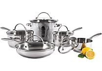 Starfrit Element 18/10 Stainless Steel 10 piece set with lids