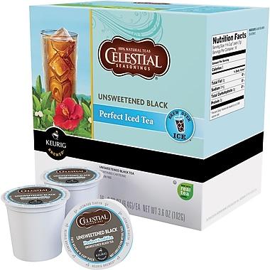 Keurig® K-Cup® Celestial Seasonings® Unsweetened Black Iced Tea, Regular, 24 Pack